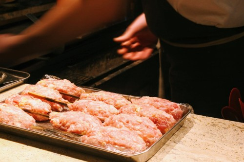 tsukune on the counter